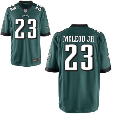 watch 8972e 0c176 Men's Philadelphia Eagles Nike Midnight Green Custom Game Jersey